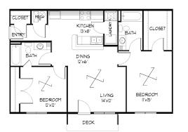 two bedroom floor plan house design plans pdf books with bat bath