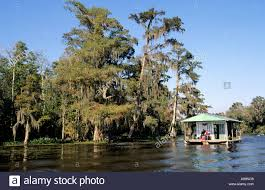 united states louisiana a boat house in bayou located in the