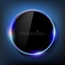 ecran noir écran noir rond sur un fond bleu illustration stock illustration