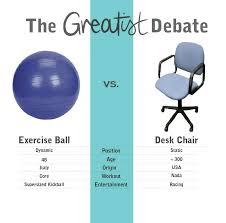 Office Chair Workout Swiss Ball Office Chair Benefits