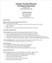 Sample Of Resume For Teaching Job by Sample Teacher Resume Example Of Teachers Resume Math Instructor
