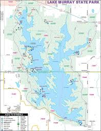 State Park Map by Lake Murray State Park Maplets