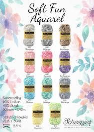 scheepjes softfun aquarel yarn crochet yarn i like pinterest