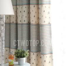 kids sailboat pattern printed curtains