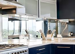 kitchen kitchens seashore glass and mirror mirrored backsplash