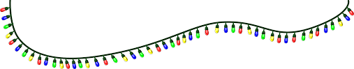 christmas lights animated clipart collection