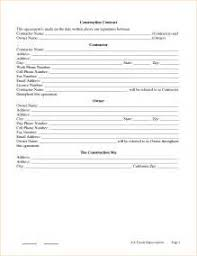 contractor agreement template 13 free word pdf 4 general
