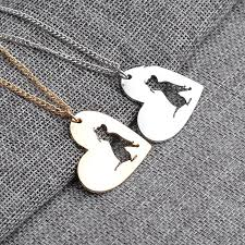 heart shaped charm necklace images Cute dog heart shaped charm necklace shiptodayusa jpg