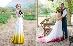 colorful dress dip dye your wedding with more colorful dress 254281