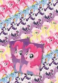 my pony wrapping paper my pony the 2 sheets gift wrap 2 gift tags rainbow dash