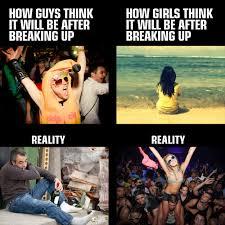 Breakup Memes - break up memes men vs women imgur