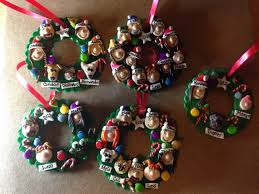 personalized polymer clay family wreath ornament family tree