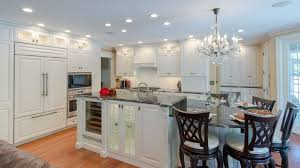 Crystal Kitchen Cabinets Kitchen With White Cabinets And Crystal Chandelier Cleaning Tips