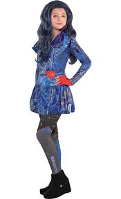 Scary Halloween Costumes Walmart Girls Uma Costume Disney Descendants 2 Party