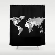 World Map Fabric Shower Curtain Best Mens Shower Curtains Products On Wanelo
