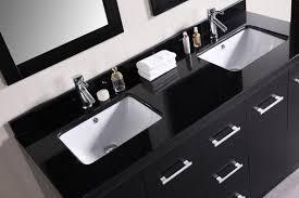 Cosmo Double Sink Vanity Bathgemscom - Awesome black bathroom vanity with sink property