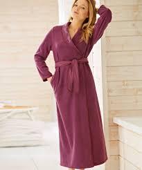 robe de chambre tres chaude pour femme robe de chambre en molleton polaire 130 cm vison femme damart