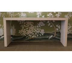 Parsons Console Table Gracie Handpainted Wallpaper Custom Furniture Asian
