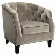 Tufted Accent Chair Coaster Velvet Upholstered Tufted Accent Chair In