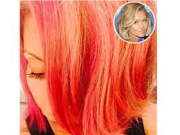 kelly ripper hair style now kelly ripa dyes her hair pink reveals i might go red next