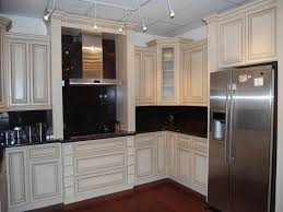 Neutral Colored Kitchens - kitchens with white appliances and dark cabinets cream colored