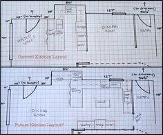 how to draw a floor plan to help me lay out my kitchen remodel