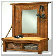 Tree Bench Ideas Hall Tree With Storage Bench And Mirror Foter For Ideas Regard To