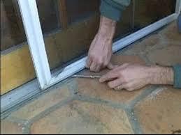 Replacing Patio Door Rollers by Sliding Screen Door Repair Removing A Sliding Screen Door Youtube