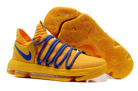 2017 nike zoom kd 10 warrior yellow blue for sale cheap kd 10 sale