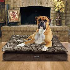 costco pet beds kirkland signature pillow top orthopedic pet napper in brown faux