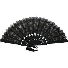 black lace fan 20th c black lace wood folding fan from vanbibber on