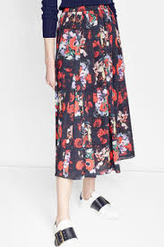 silk skirt printed silk skirt kenzo women de stylebop