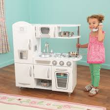 Pretend Kitchen Furniture Kitchen White Vintage Kitchen Clock Kidkraft Retro Play And