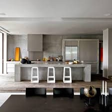 Concrete Kitchen Island by Stylish Concrete Interiors For Contemporary Homes