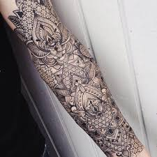 meticulously stippled ornamental tattoos by kinzer