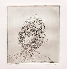 frank auerbach lucian freud h 12 1981 etching