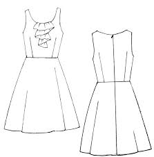 22 best dress line drawings images on pinterest drawings