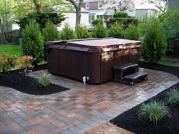 Backyard Landscaping Ideas For Privacy by Hot Tub Landscaping Privacy Team Galatea Homes Backyard Hot