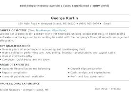 bookkeeper resume exles bookkeeping resume sle bookkeeper resume sle 4 bookkeeper