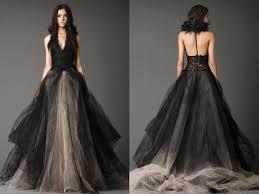 black wedding dress vera wang bridals in black white photo 1 pictures cbs news