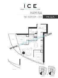 3 Bedroom Condo Floor Plan by Ice Condos For Sale Rent