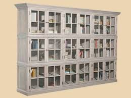 Glass Bookcases With Doors by Bookcase With Glass Doors Low Bookcase With 4 Sliding Doors Glass