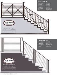 Stair Options by Affordable Horizontal Railing Now Available Ironwood Connection