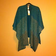 chico outlet chico poncho island teal brand new poncho bought from the chico
