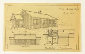 drawing plan and elevation of two family house type no 4 ca
