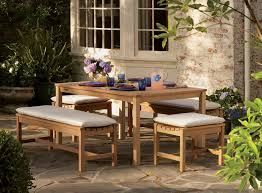 Patio Table And Bench Outdoor Decorations Patio Table And 6 Chairs Patio Table With