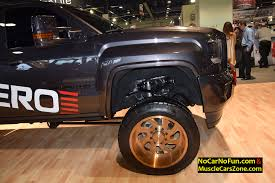 lifted gmc lifted gmc denali truck on specialty forged wheels 2015 sema