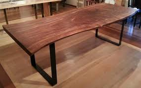 Walnut Live Edge Table by Gorgeous Live Edge Claro Walnut Slab Table