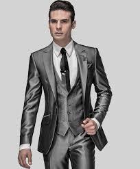 light gray suits for sale sale slim fit groom tuxedos shiny grey best man suit notch lapel