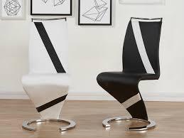 chaise noir et blanc lot de chaises twizy simili bicolore 2 coloris